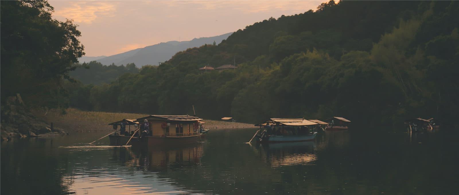 川舟と鵜飼い
